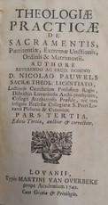 Theologiae practicae de sacramentis, - Nicolas Pauwels