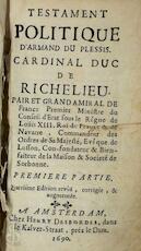 Testament politique d'Armand du Plessis, cardinal duc de Richelieu - Armand du Plessis (Duc de Richelieu)