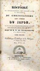 Histoire de l'établissement, des progrès et de la décadence du Christianisme dans l'empire du Japon - Pierre-François-Xavier De Charlevoix