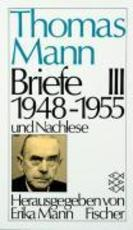 Briefe III - Thomas Mann (ISBN 9783596221387)