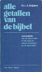Alle getallen van de bijbel - L.A. Snijders (ISBN 9789025941260)