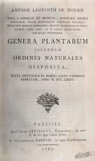 Genera plantarum secundum ordines naturales disposita