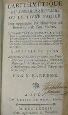 L'arithmétique du sieur Barrême, ou le livre facile pour apprendre l'arithmétique de soi-même, & sans maître - François Barrême