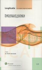 Beginselenwet verpleging ter beschikking gestelden - M.F.M. de Groot (ISBN 9789013085655)