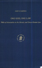 One God, One Law - John W. Martens (ISBN 9780391041905)
