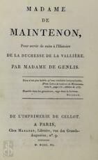 Madame de Maintenon - Madame de Genlis