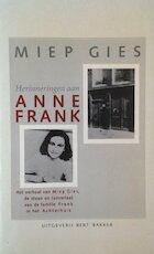 Herinneringen aan Anne Frank
