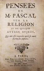 Pensées de M. Pascal sur la Religion et sur quelques autres sujets - Blaise Pascal