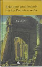 Beknopte geschiedenis van het Romeinse recht - Willem Jans Zwalve (ISBN 9789054544296)