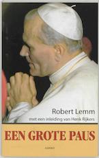 Een grote paus - R. Lemm (ISBN 9789059114180)
