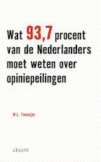 Wat 93.7 procent van de Nederlanders moet weten over opiniepeilingen - W.L. Tiemeijer, Will Tiemeijer (ISBN 9789052602806)