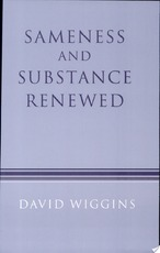 Sameness and Substance Renewed - David Wiggins (ISBN 9780521456197)