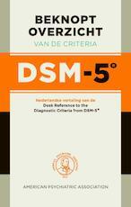 Beknopt overzicht van de criteria DSM-5 (ISBN 9789089532237)