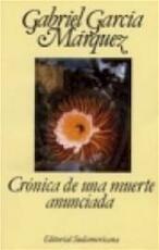 Crónica de una muerte anunciada - Gabriel García Márquez (ISBN 9788439711117)