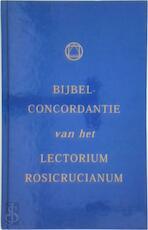 Bijbelconcorddantie van het lectorium Rosicrucianum