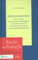 Informatieplichten - K.J.O. Jansen (ISBN 9789013104356)