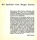 De Spelen van Hugo Claus - Hugo Claus, André Goeminne