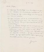 Gust Gils aan Hugo Claus - gesigneerde brief 1966 - GILS, Gust
