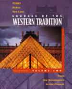 Sources of the Western Tradition: From the Renaissance to the present - Marvin Perry, Joseph R. Peden, Theodore Hermann Von Laue (ISBN 9780395892022)