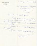 Roger Van de Velde aan W. M. Roggeman - 1968