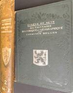 Dictionnaire historique et géographique des communes belges - Eugène de Seyn