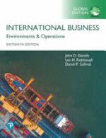 International Business, Global Edition - John D. Daniels, Lee H. Radebaugh, Daniel P. Sullivan (ISBN 9781292214733)