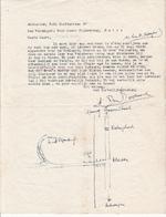Adriaan DEN DOOLAARD aan Geert PIJNENBURG - 2 originele brieven - DEN DOOLAARD, Adriaan en Erie