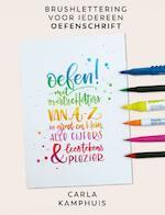 Kleur! Brushlettering Oefenschrift