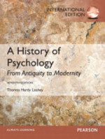 A History of Psychology - Thomas Hardy Leahey (ISBN 9780132929509)