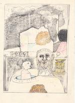 Hugo Claus - originele tekening '1941' - CLAUS, Hugo
