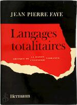 Langages totalitaires - Jean Pierre Faye (ISBN 9782705657420)