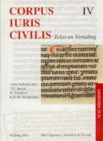 Corpus Iuris Civilis IV Digesten 25-34 (ISBN 9789060119051)
