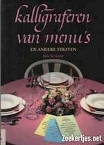 Kalligraferen van menu's en andere teksten