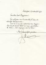 Maurice Gilliams aan Willem M. Roggeman - 17 nov 1976 - GILLIAMS, Maurice