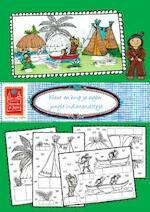 Kleur en knip je eigen jungle indianendorp - Hanneke de Jager (ISBN 9789082658033)