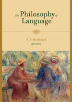 The Philosophy of Language - Aloysius Martinich (ISBN 9780195188301)