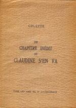 Un chapitre indit de Claudine s'en va - Colette
