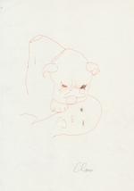 Hugo Claus - Originele tekening - CLAUS, Hugo