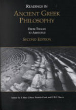 Readings in Ancient Greek Philosophy - S. Marc Cohen, Patricia Curd, C. D. C. Reeve (ISBN 9780872205383)