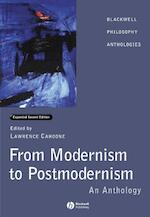 From Modernism to Postmodernism - Lawrence E Cahoone (ISBN 9780631232131)