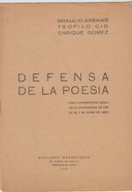 Defensa de la poesia - Braulio Arenas, Teofilio Cid, Enrique Gomez