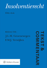 Tekst & Commentaar Insolventierecht - J.L.M. Groenewegen (ISBN 9789013147315)