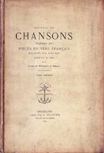 Recueil de chansons, poèmes et pièces en vers Français relatifs aux Pays-Bas - Unknown