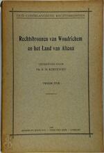 Rechtsbronnen van Woudrichem en het land van Altena - Tweede stuk
