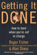 Getting It Done - Roger Fisher (ISBN 9780887309588)
