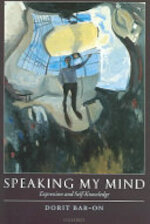 Speaking My Mind:expression & Self-knowledge (ISBN 9780199276288)