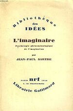 L'Imaginaire, psychologie phénoménologique de l'imagination par Jean-Paul Sartre. [Couverture de Colette Duhamel.]. - Jean-Paul Sartre