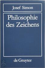 Philosophie des Zeichens - Josef Simon (ISBN 9783110856316)