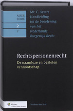 Asser / 2-II de rechtspersoon (ISBN 9789013093896)