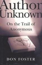 Author unknown - Donald W. Foster (ISBN 9780805063578)